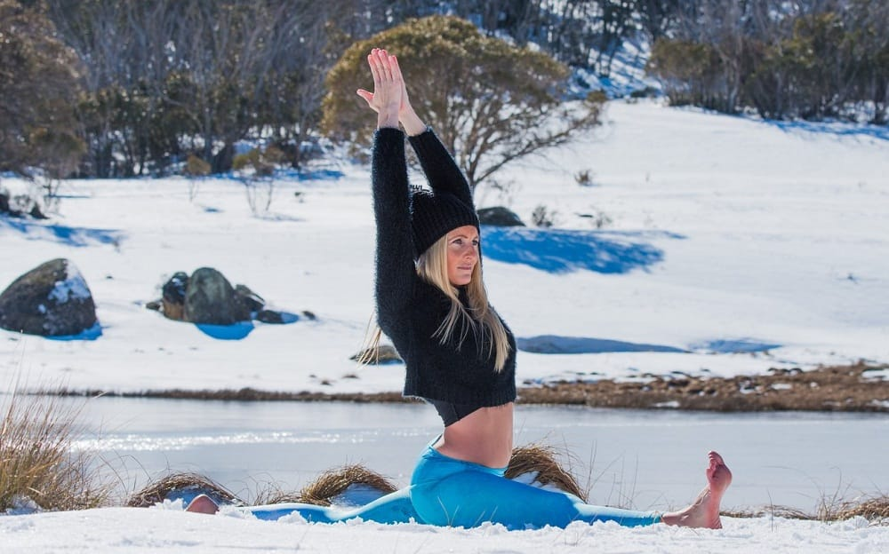 Warming yoga poses for cold winter days