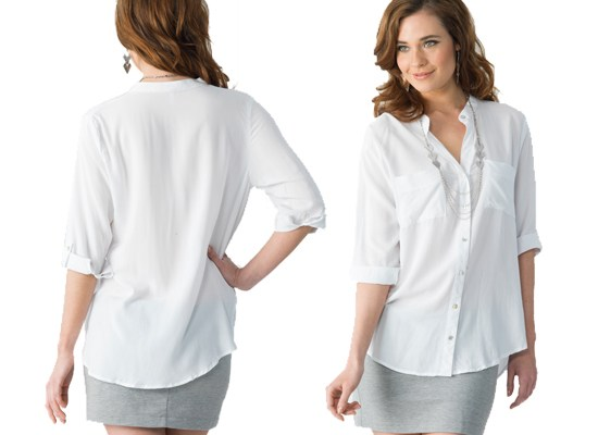 Crisp, white button-up shirt