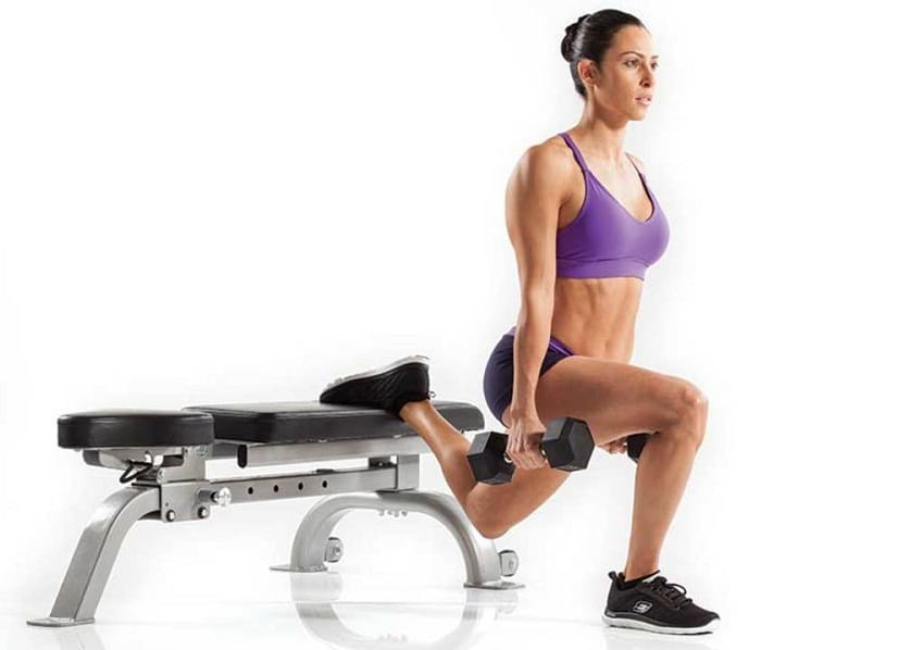 Bulgarian Split Squats for lower body